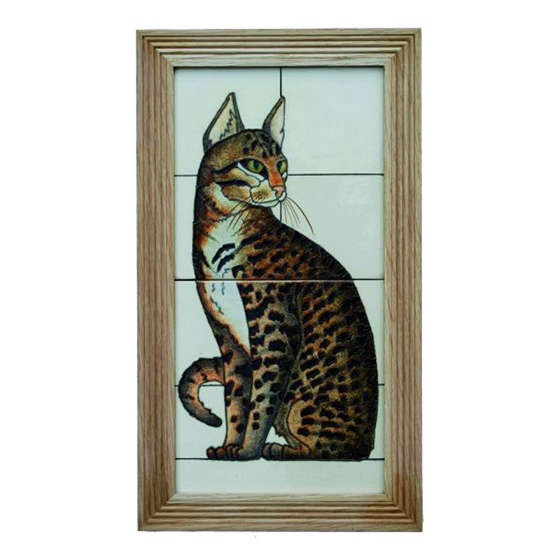 "Dennis Chinaworks Cat Mau Tile 14"" - uk-art-pottery-test-site"