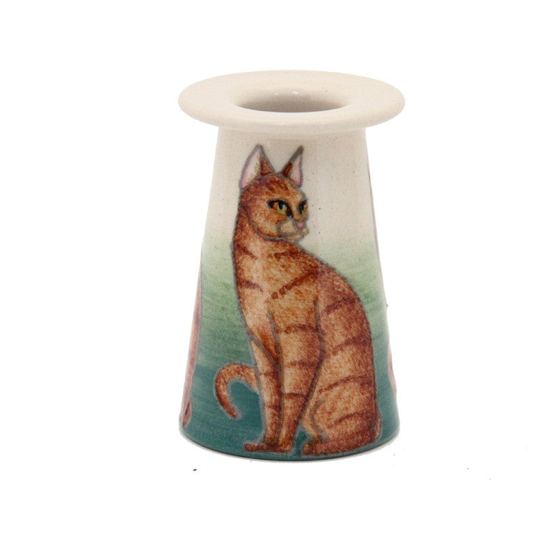 "Dennis Chinaworks Cat Orlando Conical 3"" - uk-art-pottery-test-site"