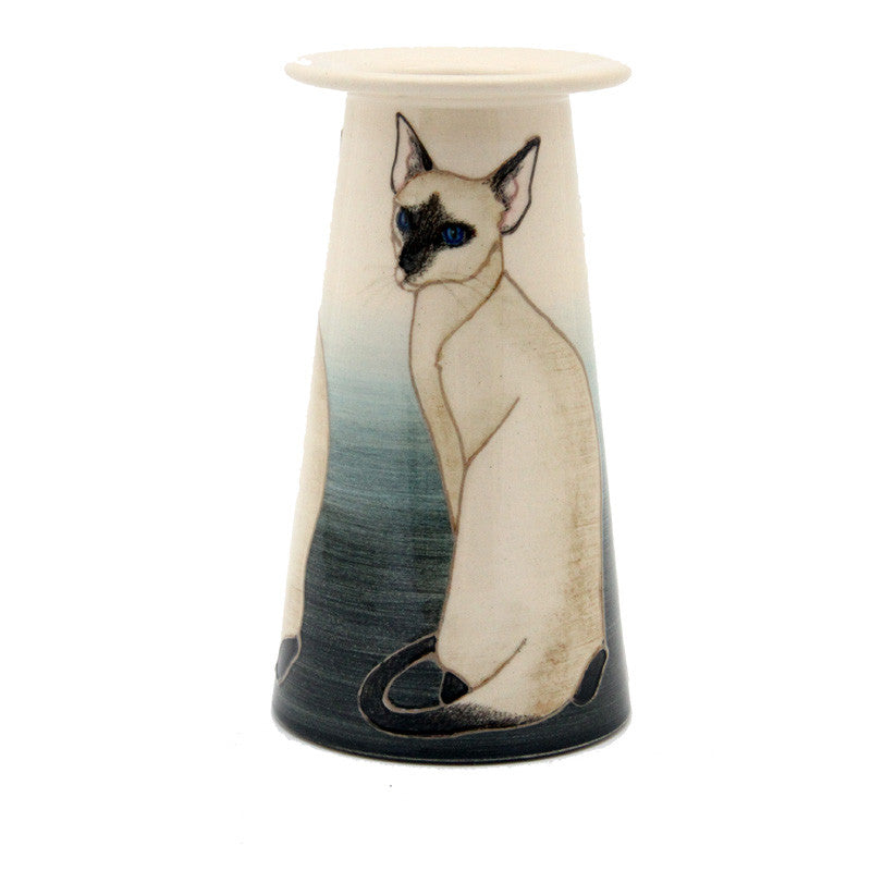 "Dennis Chinaworks Cat Siamese Conical 6"" - uk-art-pottery-test-site"