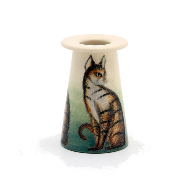 "Dennis Chinaworks Cat Tabby Conical 3"" - uk-art-pottery-test-site"