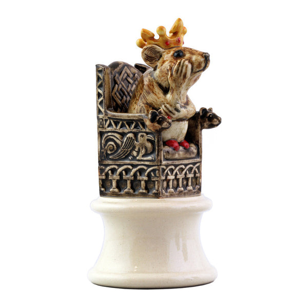 "Dennis Chinaworks Chess Piece White Queen 3.5"" - uk-art-pottery-test-site"