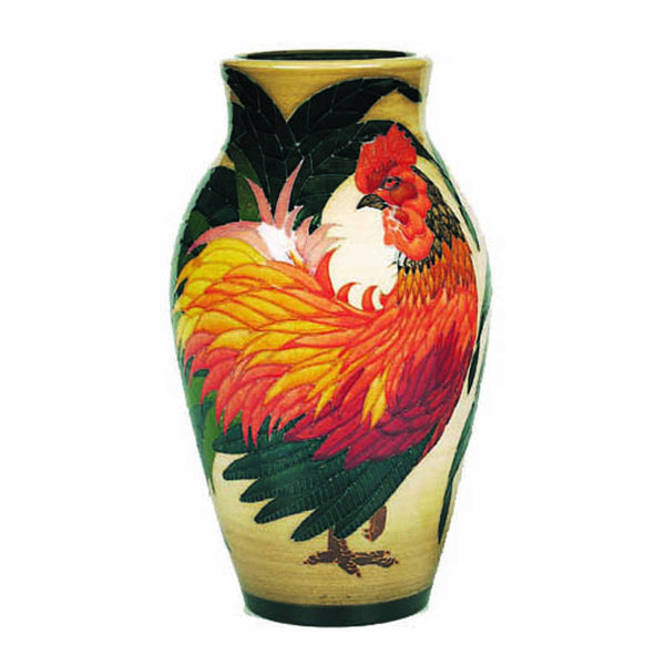 "Dennis Chinaworks Cockerel Natural Baluster 10"" - uk-art-pottery-test-site"