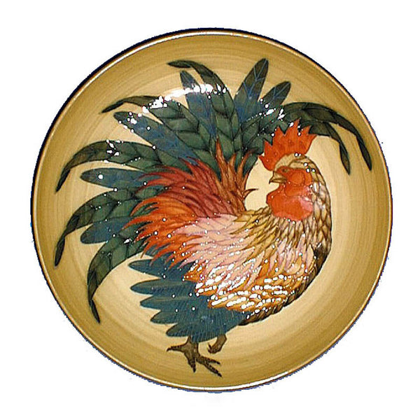 "Dennis Chinaworks Cockerel Natural Charger 10.5"" - uk-art-pottery-test-site"