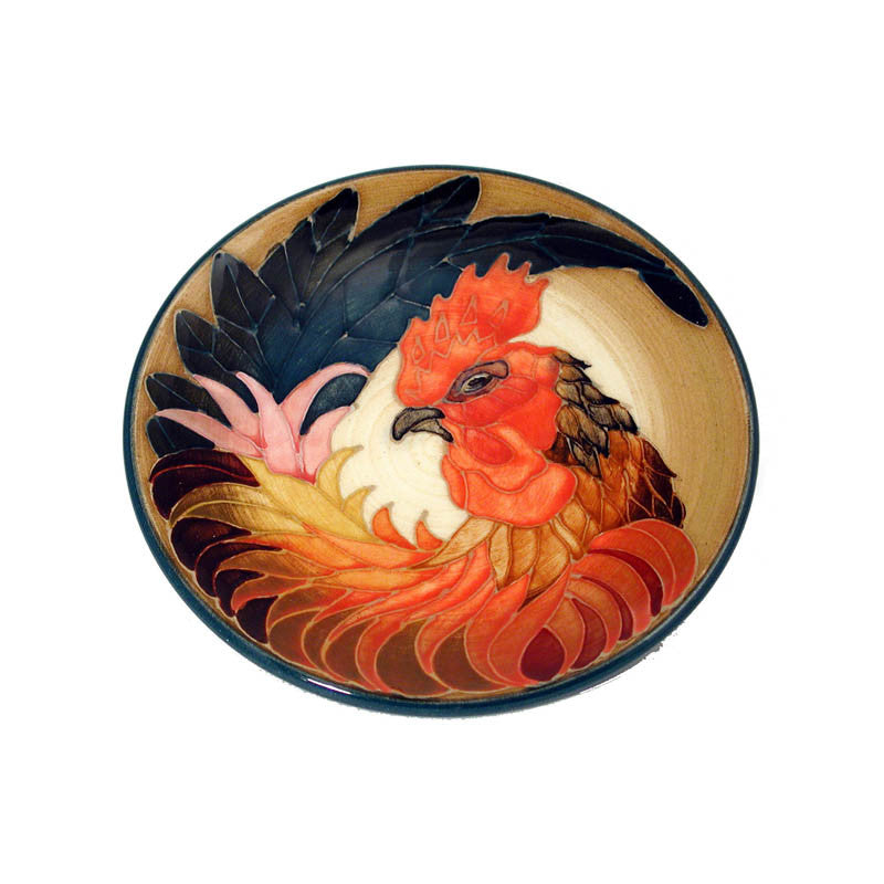 "Dennis Chinaworks Cockerel Natural Roundel 6"" - uk-art-pottery-test-site"