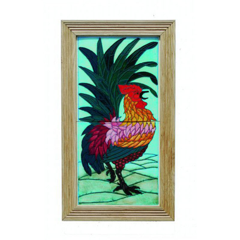 Dennis Chinaworks Cockerel Natural Tile 14