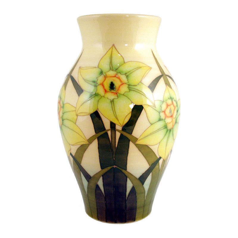 "Dennis Chinaworks Daffodil on Yellow Baluster 10"" - uk-art-pottery-test-site"