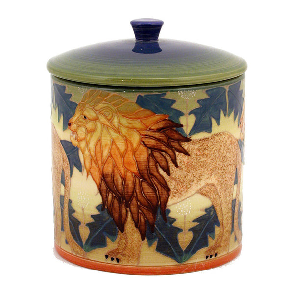 Dennis Chinaworks Dandy Lion on Green Lidded Box 6