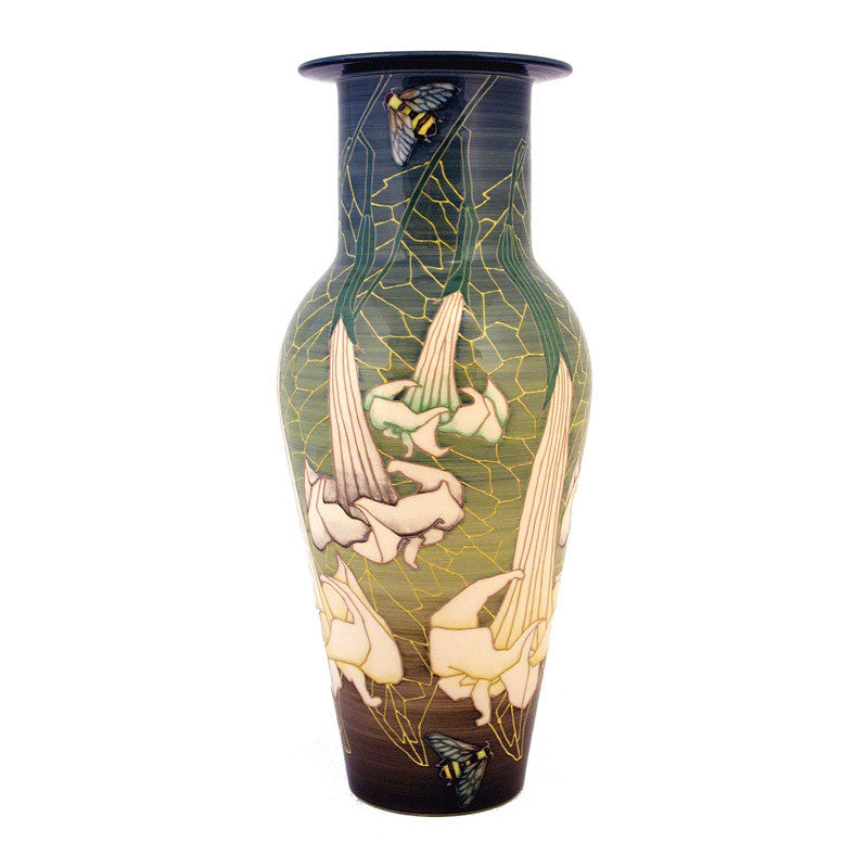 "Dennis Chinaworks Datura on Green Etruscan 16.5"" - uk-art-pottery-test-site"