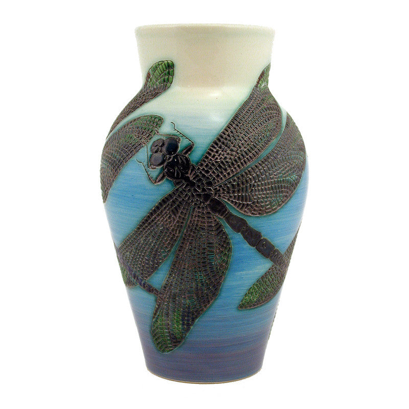 "Dennis Chinaworks Dragonfly Natural Revived Baluster 10"" - uk-art-pottery-test-site"