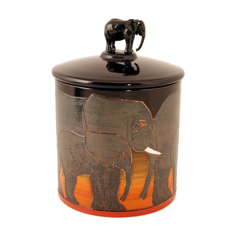 Dennis Chinaworks Elephant African Lidded Box 6