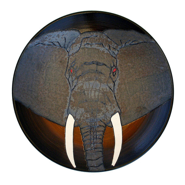 Dennis Chinaworks Elephant African Plate 10