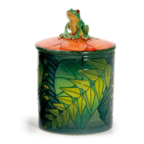 Dennis Chinaworks Frog Tree Lidded Box 4.5