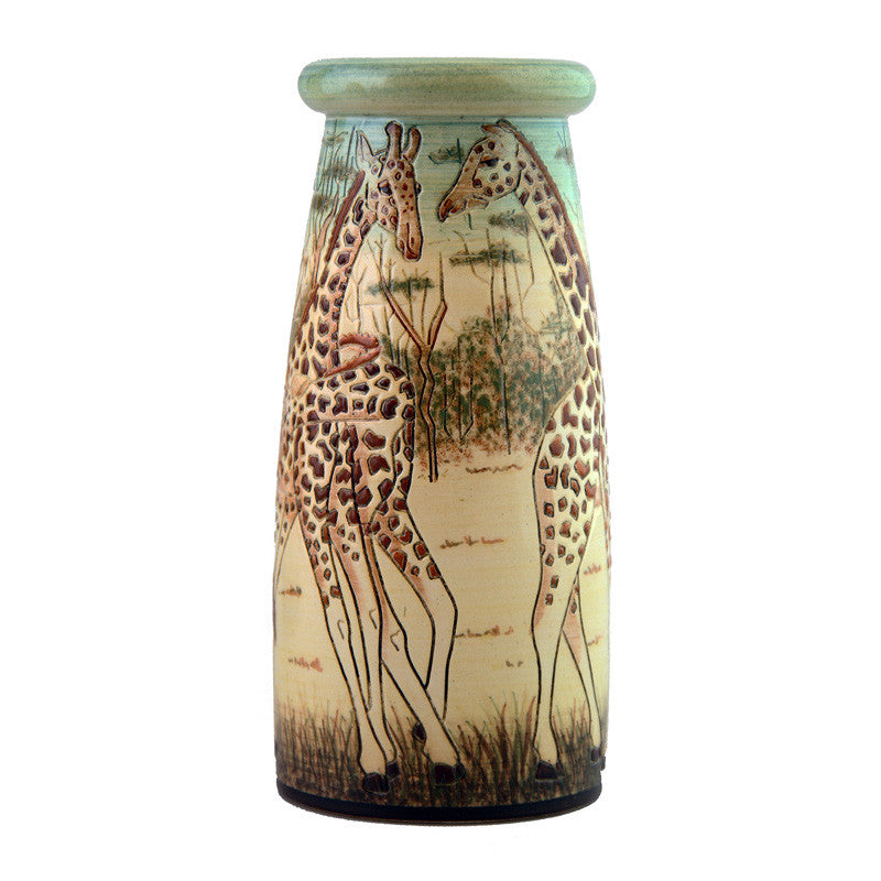 "Dennis Chinaworks Giraffe Holden Wood Roll Top 8"" - uk-art-pottery-test-site"