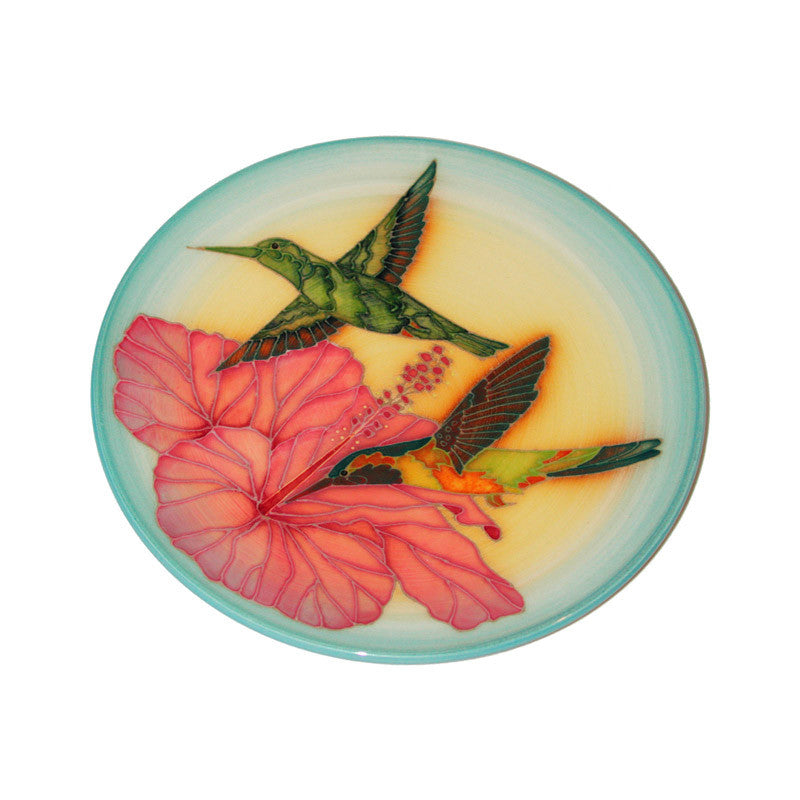 "Dennis Chinaworks Humming Birds Collect it Plate 10"" - uk-art-pottery-test-site"