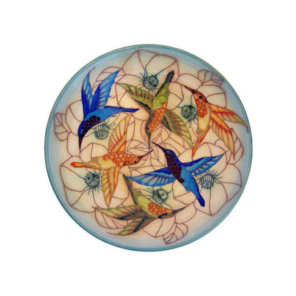 "Dennis Chinaworks Humming Birds Standard Charger 14"" - uk-art-pottery-test-site"