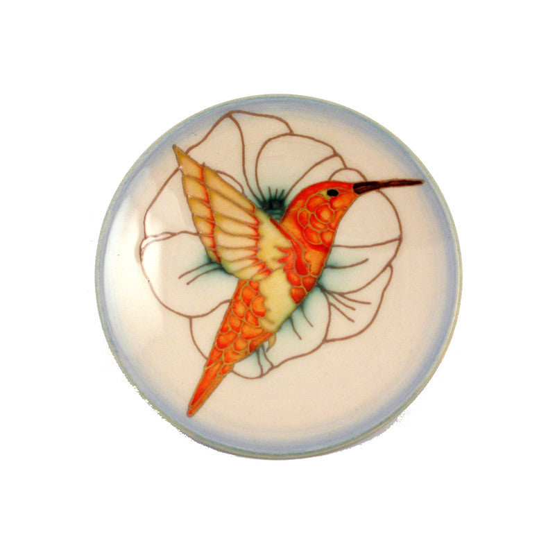 "Dennis Chinaworks Humming Birds Standard Roundel 6"" - uk-art-pottery-test-site"