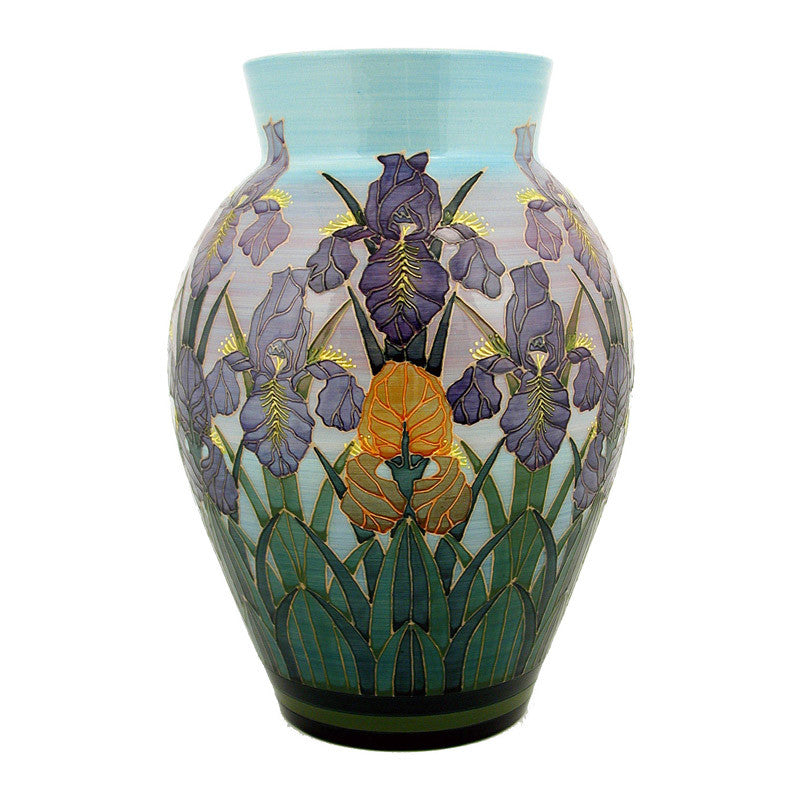 Dennis Chinaworks Iris on Blue Baluster 13
