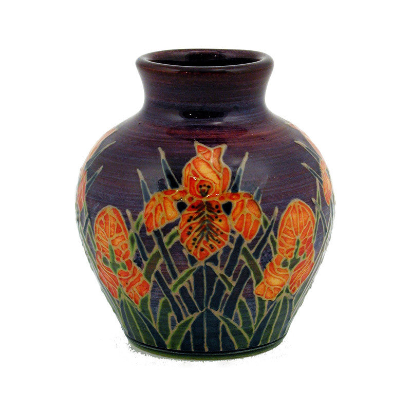 "Dennis Chinaworks Iris on Orange Mr T 3.25"" - uk-art-pottery-test-site"