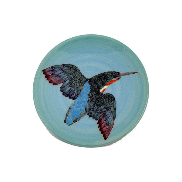"Dennis Chinaworks Kingfisher Painted Roundel 6"" - uk-art-pottery-test-site"