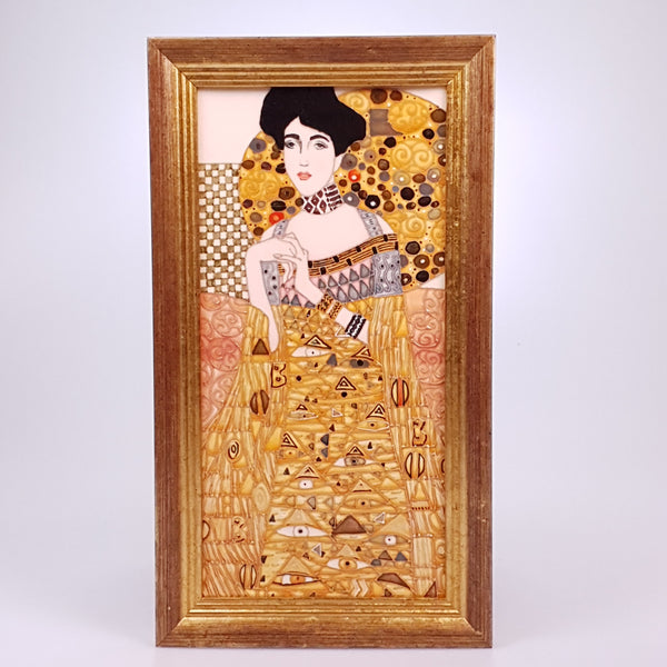 "Adele Klimt , 12"" tile  designed by Sally Tuffin for the Dennis Chinaworks"