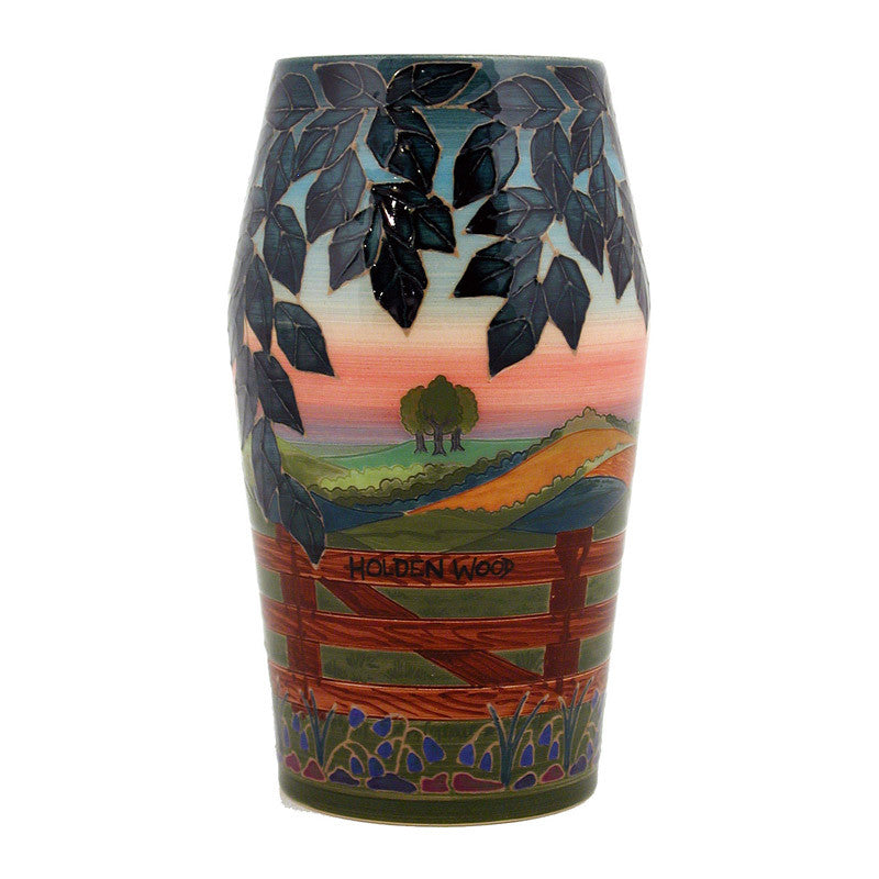 "Dennis Chinaworks Landscape Summer Barrel 8"" - uk-art-pottery-test-site"