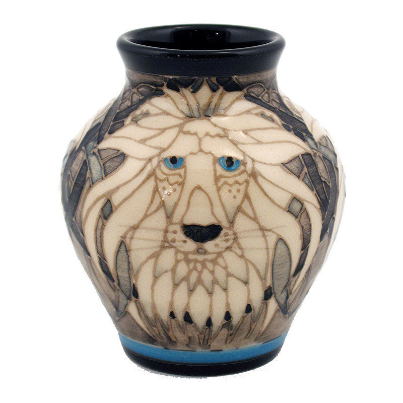 "Dennis Chinaworks Lion on White Mr T 3.25"" - uk-art-pottery-test-site"