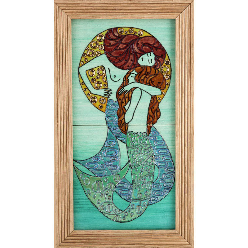 "Dennis Chinaworks Mermaid Standard Tile 14"" - uk-art-pottery-test-site"