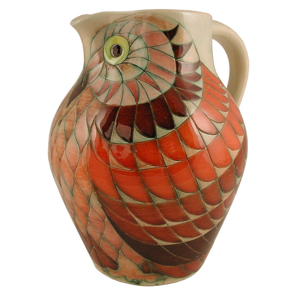 "Dennis Chinaworks Owl Early Jug 12"" - uk-art-pottery-test-site"