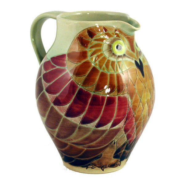 "Dennis Chinaworks Owl Early Jug 6"" - uk-art-pottery-test-site"