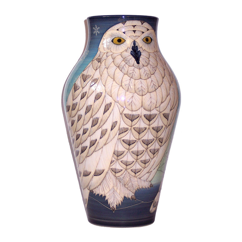 "Dennis Chinaworks Owl Snowy Baluster 14"" - uk-art-pottery-test-site"