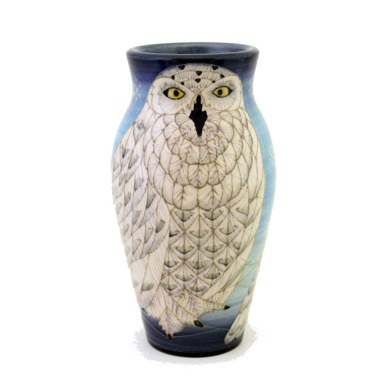 Dennis Chinaworks Snowy Owl Small Baluster - uk-art-pottery-test-site