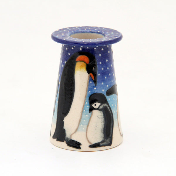 Dennis Chinaworks Penguin On light blue Conical 3