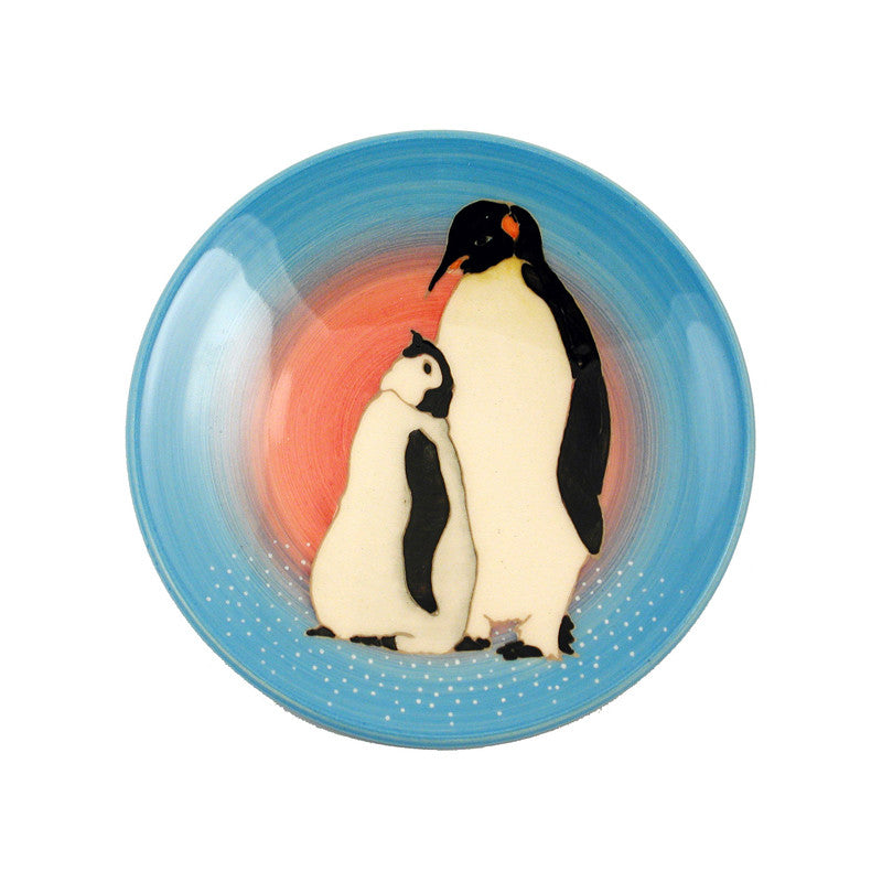 Dennis Chinaworks Penguin On light blue Roundel 6