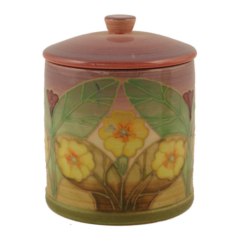 "Dennis Chinaworks Primrose on Lilac Lidded Box 3.75"" - uk-art-pottery-test-site"