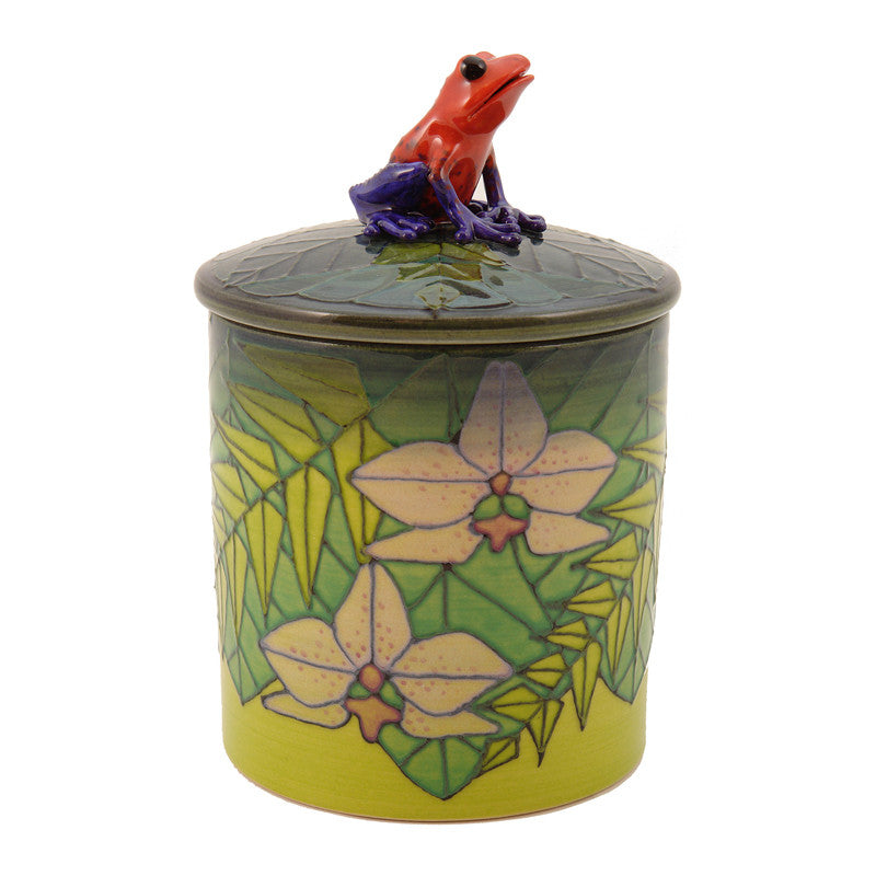 "Dennis Chinaworks Rainforest Standard Lidded box 4.5"" - uk-art-pottery-test-site"