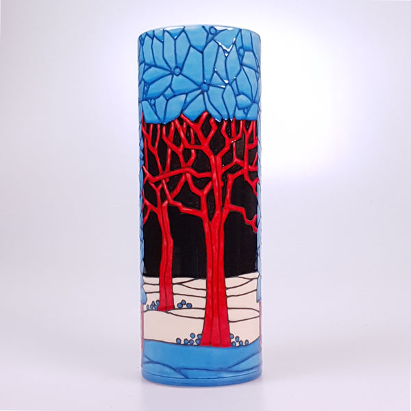 Red Tree vase designed by Sally Tuffin for the Dennis Chinaworks