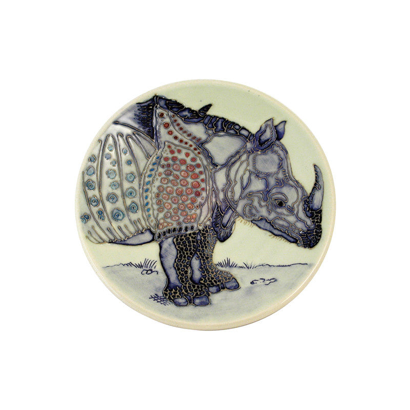 Dennis Chinaworks Rhino After Durer Roundel 6