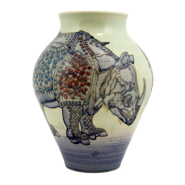 Dennis Chinaworks Rhino After Durer Vase 9
