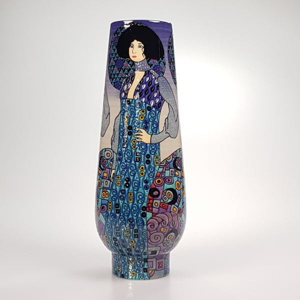 "Dennis Chinaworks after Klimt Emily 12"" bud vase - uk-art-pottery-test-site"