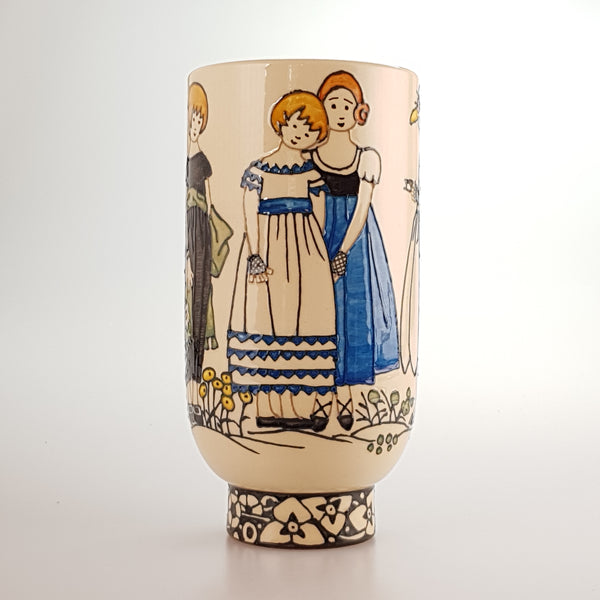 "Dennis Chinaworks Childrens Fashion 8"" Deco Vase Edition of 20 - uk-art-pottery-test-site"