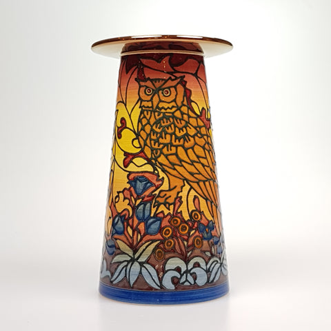 "Autumn Owl Vase designed by Sally Tuffin for the Dennis chinaworks 7"" - uk-art-pottery-test-site"