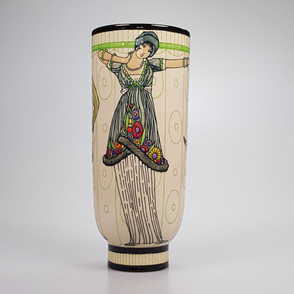 "Dennis Chinaworks Fashion Paul Poiret Deco 13"" - uk-art-pottery-test-site"