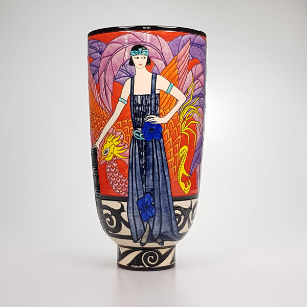 "Dennis Chinaworks Fashion Phoenix Deco 15"" - uk-art-pottery-test-site"