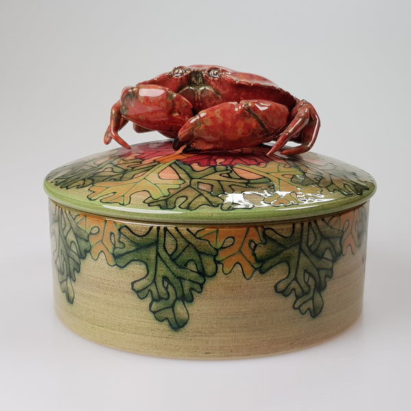 Dennis Chinaworks Crab Lidded Shallow Box - uk-art-pottery-test-site
