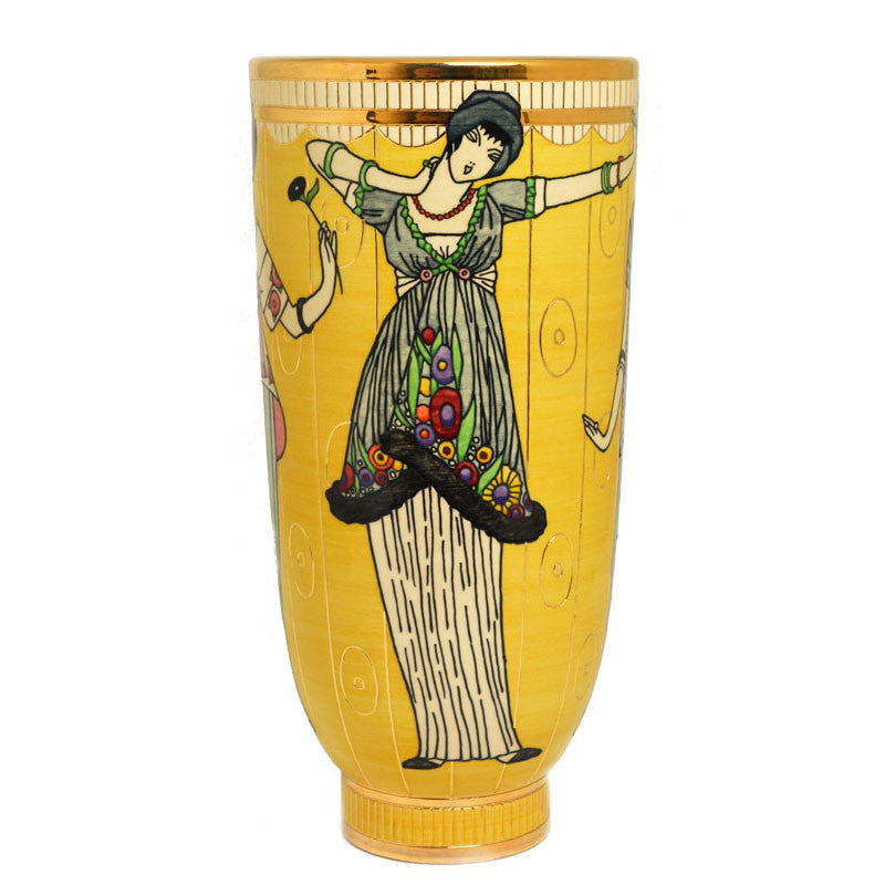 Dennis Chinaworks Sally Tuffin Yellow Poiret - uk-art-pottery-test-site