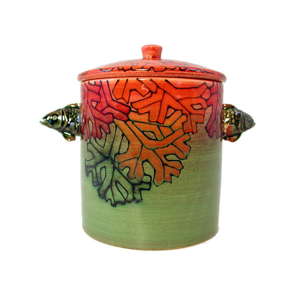 "Dennis Chinaworks Sea Garden Standard Lidded Box 4.5"" - uk-art-pottery-test-site"