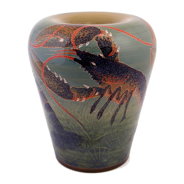 "Dennis Chinaworks Sea Green Lobster Creel 10.75"" - uk-art-pottery-test-site"