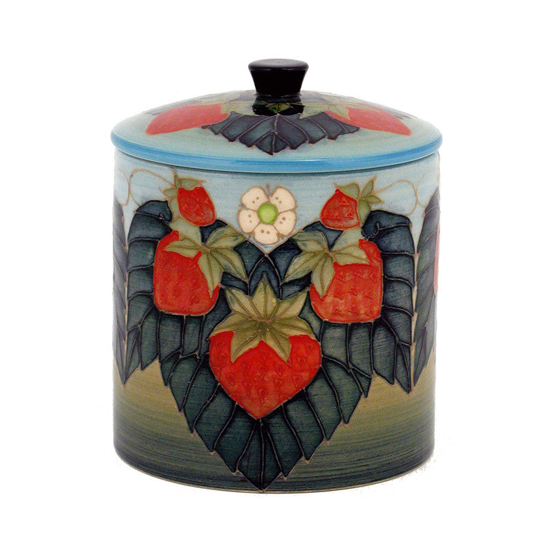 "Dennis Chinaworks Strawberry Natural Lidded Box 6"" - uk-art-pottery-test-site"
