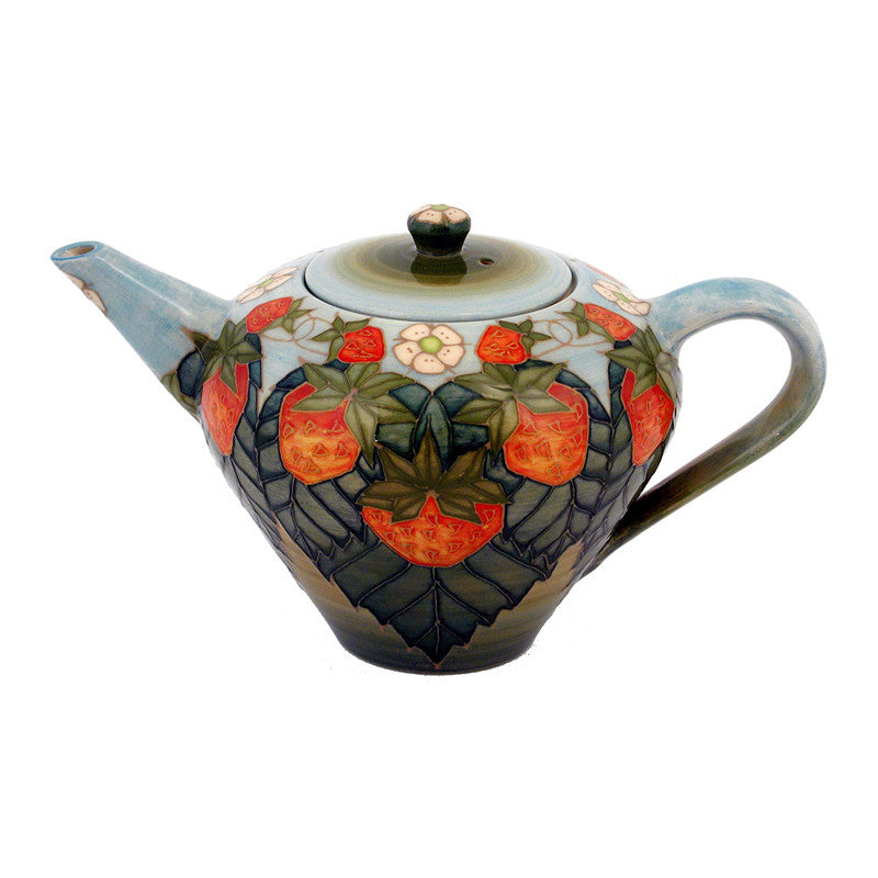 "Dennis Chinaworks Strawberry Natural Teapot 5.75"" - uk-art-pottery-test-site"