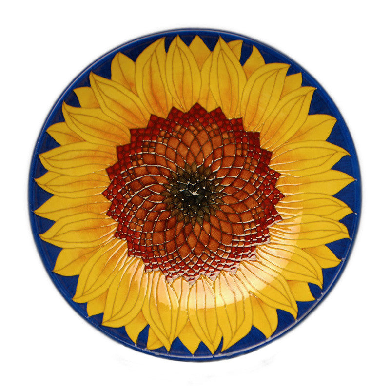 "Dennis Chinaworks Sunflower Yellow on Blue Charger 14"" - uk-art-pottery-test-site"